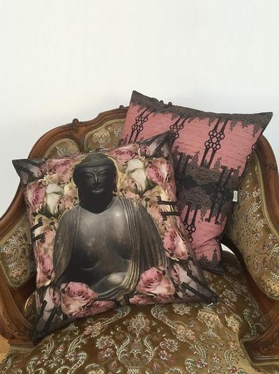 Kuddfodral / Kudde Buddha Van Ash shabby chic lantlig stil