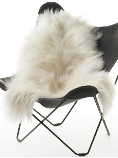 Isländskt vitt fårskinn inslag ekologiskt